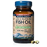 Wiley's Finest Easy Swallow Minis 630mg EPA + DHA Omega-3 Natural Wild Alaskan Fish Oil Supplement 180 Softgels