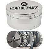 Gear Ultimate Herb Grinder, Large 2.5 Inch 4 Piece Anodized Aluminum with ...