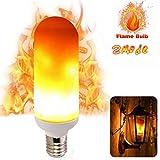 LED Flicker Flame Effect Light Bulb - E27 Standard Base -huatk Christmas Decoration Simulation Fire Flickering 96pcs 2835 LED Beads - Flame Light for Hotel/ Bars/ Home Decoration,HUATK (1 Packs)