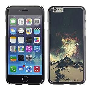 For Apple iPhone 6 Plus(5.5 inches)Case , Everest Mountain Universe Sky - Diseño Patrón Teléfono Caso Cubierta Case Bumper Duro Protección Case Cover Funda