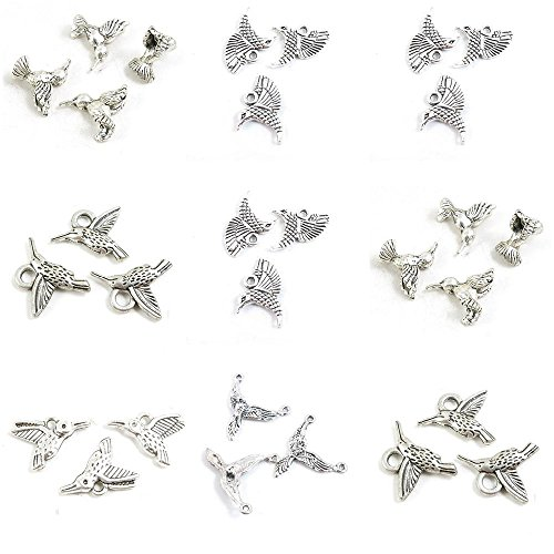 - 29 Pieces Jewelry Making Charms Hummingbird Bird Connector