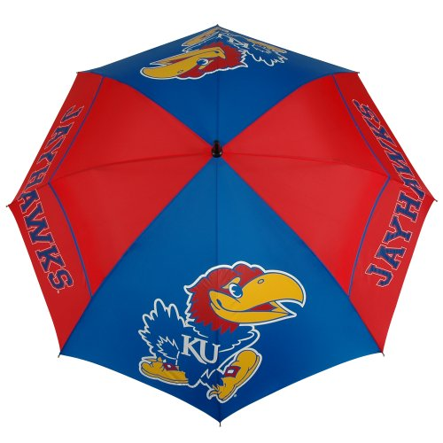 (NCAA Kansas Jayhawks 62-Inch WindSheer Hybrid Umbrella)