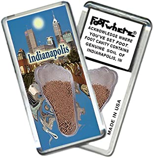 """product image for Indianapolis """"FootWhere"""" Souvenir Fridge Magnet. Made in USA (IND203 - Indy @ PM)"""