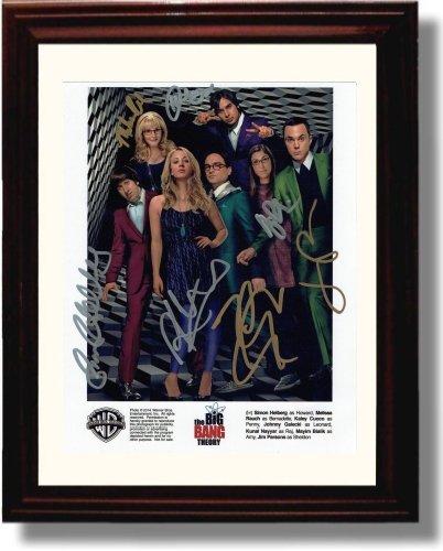 Framed The Big Bang Theory Autograph Replica Print - The Big Band Theory Cast (Big Bang Theory Wall Art)