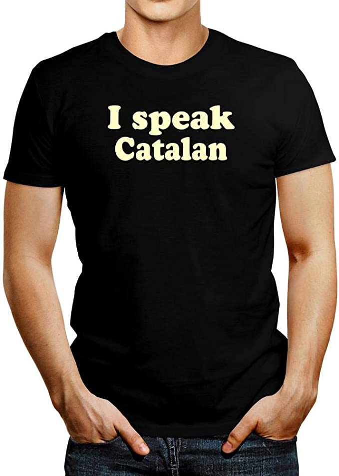 Idakoos I Speak Catalan Camiseta: Amazon.es: Ropa y accesorios