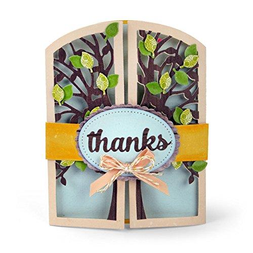 Sizzix Thinlits Die Set, Gatefold Card, Tree by Lori Whitlock, 15 Pack ()