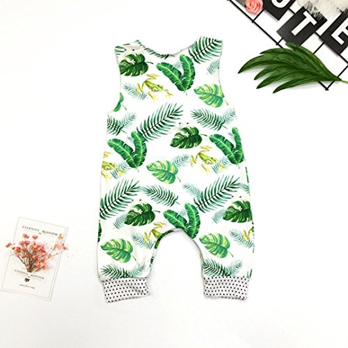 bobo4818 Neugeborenes Baby Boy Sleeveless Floral Strampler Overall