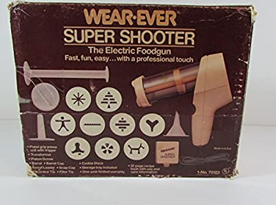 Vintage Wear-Ever Super Shooter Electric Cookie Press Candy Maker Vegan 70123