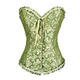 Best Spring Fever Lingerie - Spring Fever Women's Sexy Lace-up Corset Satin Boned Review