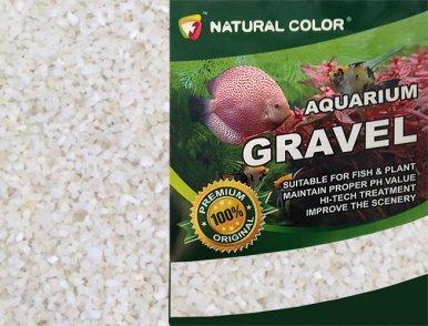 Premium Natural Bottom Fish Tank Stones 1kg, White GardenersDream Coloured Aquatic Gravel