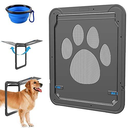 CATOOP Dog Screen Door, Pet Screen Door Protector for Sliding Door, Automatic Set of 2 Lock/Lockable (Outside Door With Built In Dog Door)