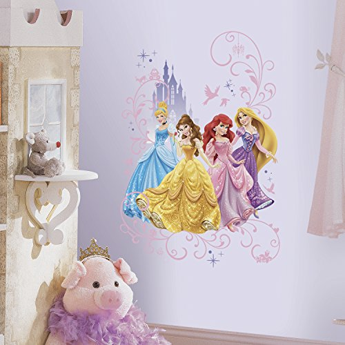 RoomMates RMK2799TB Disney Princess Wall Graphix Peel and Stick Giant Wall Decals, 24