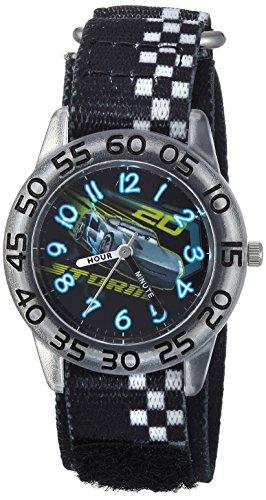 Disney Boy's 'Cars 3 Jackson' Quartz Plastic and Nylon Casual Watch, Color:Black (Model: WDS000290)