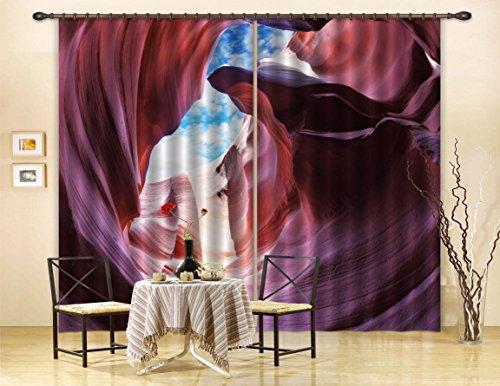 Price comparison product image 3D Canyon Landscape 307 Blockout Photo Curtain Print Curtains Drapes Fabric Window / 3D Large Photo Curtain,  AJ Wallpaper US Carly (80''x 83'' 203cmx213cm(WxH))