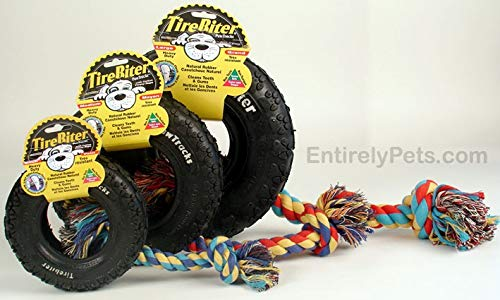 - Kyjen TireBiter Paw Tracks with Rope, Size: Large 10in