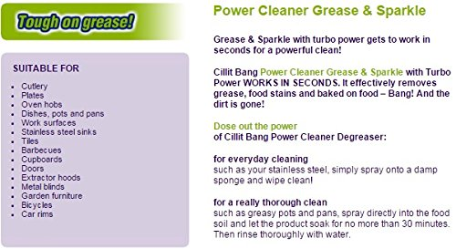 Amazon.com: Easy Off Bam (Cillit Bang) Degreaser Power Cleaner 25oz (PACK OF 4): Home & Kitchen