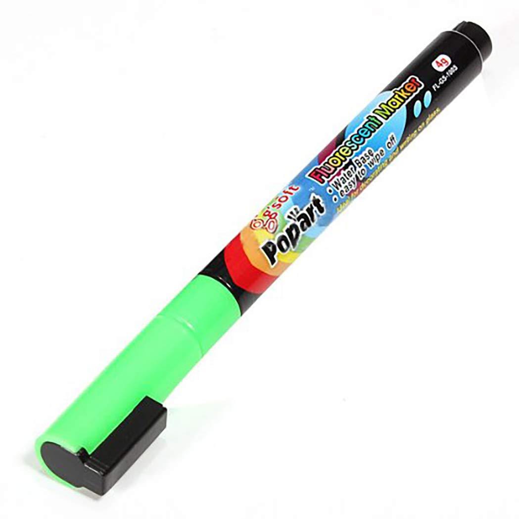 8 bolígrafos fluorescentes LED marca neón tiza líquida mesa ...