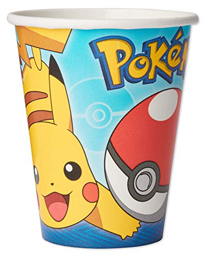 American Greetings Pokémon Party Supplies 9 oz. Disposable Paper Cups, 32-Count