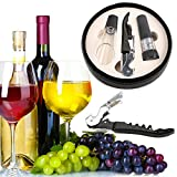 UniHappy 3 IN 1 Wine Bottle Opener Decapper Tool Set for Restaurant Dining Room