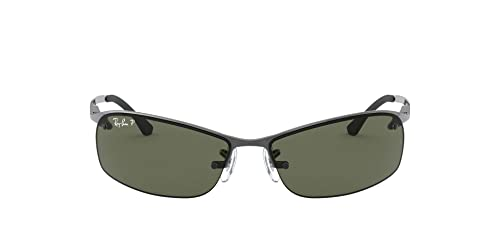 Amazon.com: Ray-Ban RB3183 lentes de sol 2.48 pulgadas, Gris ...