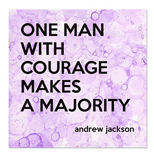 Aluminum Metal Sign Décor One Man with Courage Makes A Majority Inspiration & Motivation Novelty Square Wall Art - Purple Bubbles, 18