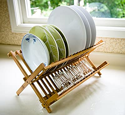 SURPAHS Bamboo Dish Drying Rack