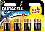 Duracell Ultra MX1500 Alkaline AA Batteries - 8-Pack