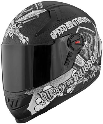 Speed and Strength SS1300 Live by the Sword Full Face Helmet 2013 Black Grey XL/X-Large