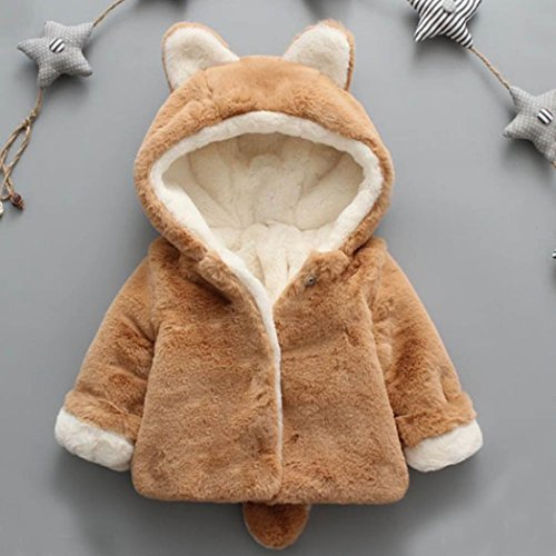 WensLTD Toddler Baby Girls Boys Autumn Winter Hooded Trench Coat Cloak Outerwear Jacket (24M, Khaki)