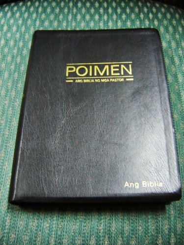 A Bible for Ministers in Tagalog / Large Leather Study Bible with Golden Edges / Poimen Ang Biblia Ng Mga Pastor / Magandang Balita Biblia / Revised Poimen 054 PBS 2008-1 / Philippine Phillippines Sheperds Bible / Resources
