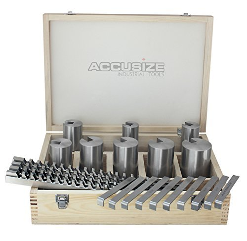 Accusize - No.40A HSS Keyway Broach Sets in Fitted Box, 32 Combinations, #5100-0042 by Accusize Industrial Tools