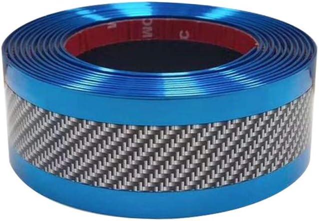 5CM*1M Car Sticker Carbon Fiber Rubber DIY Door Sill Protector Edge Guard Strip
