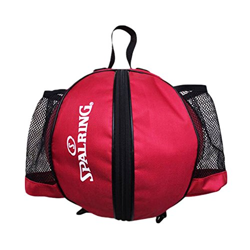 George Jimmy Fashion Cool Basketball Bag Training Bag Single-shoulder Soccer Bag-Red by George Jimmy (Image #2)