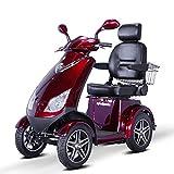 E-Wheels - EW-72 Heavy Duty Scooter - 4-Wheel - 18.5''W x 17''D - Red