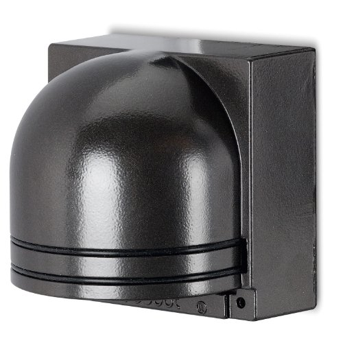 Thomas & Betts K851BR Red Dot Sitelight Post Sconce Light With Metal Back Plate And Mounting Hardware, Bronze Finish