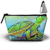 Tortoise Sea Turtle Trapezoid Cosmetic Makeup Bag Cosmetic Bag Accessory Case Straps For Couple