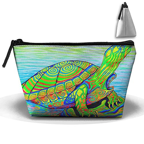 Tortoise Sea Turtle Trapezoid Cosmetic Makeup Bag Cosmetic Bag Accessory Case Straps For Couple by Zhaoqian