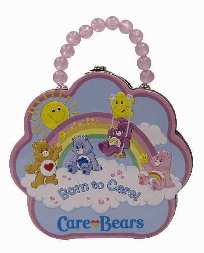 - The Tin Box Company 637707-12 Care Bears Flower Carry All Tin- Assorted