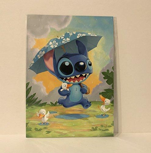 (Disney Wonderground Gallery Rainy Day Stich Postcard by Kristen Tercek )