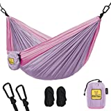 Automotive : Kids Hammock for Camping - Wise Owl Outfitters Owlet Kid & Gear Sling Hammocks - Best Quality For The Outdoors Backpacking Travel or Fun! Portable Lightweight Parachute Nylon Hammock Lavender & Pink