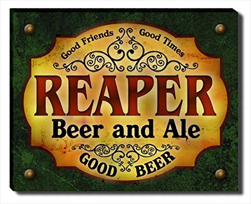 (ZuWEE Reaper Family Beer and Ale Gallery Wrapped Canvas Print)