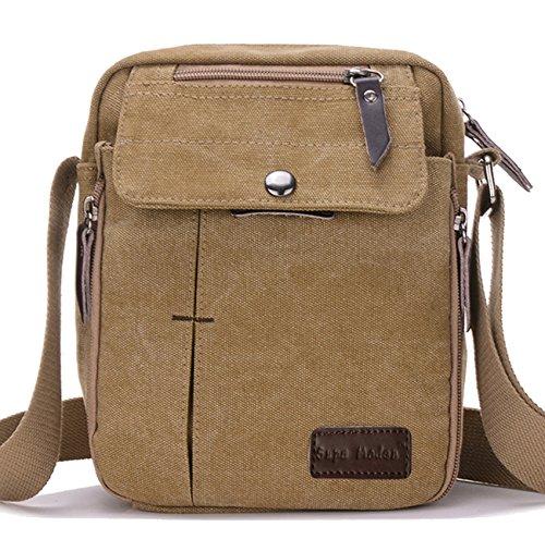 Supa Moden Man Bag Shoulder Bag Canvas Messenger Bag Retro Crossbody Bag  Sports Satchel Bag Small Sling Bag Outdoor Travel Shoulder Bag Messenger Bag Cross  ... 0bb5aca3a81f7