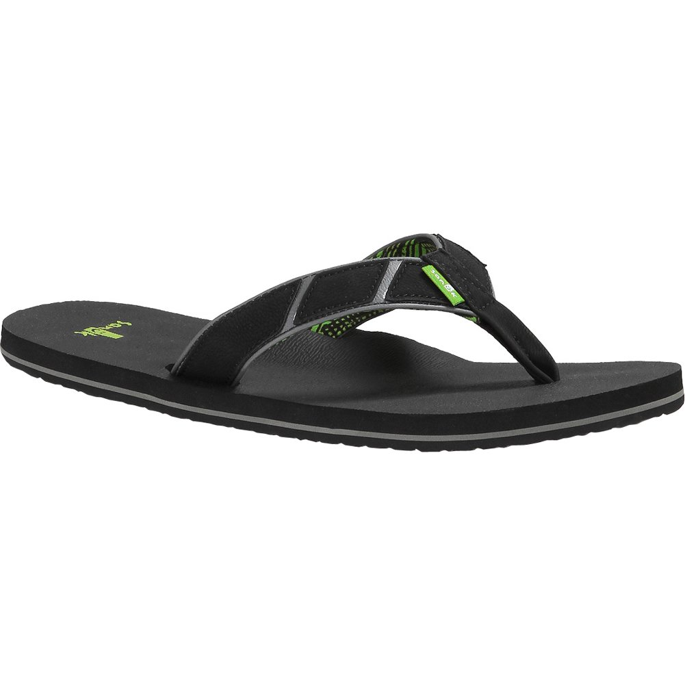 Sanuk Men's Tribune Flip Flop,Black,8 M US