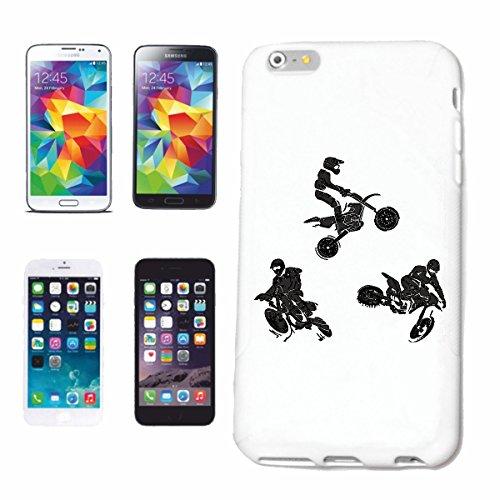 "cas de téléphone iPhone 7S ""MOTOCROSS SILHOUETTE 125cc MOTO-CROSS FREESTYLE MOTOCROSS MOTO SPORT VÊTEMENTS BIKER MOTO BIKE MACHINE"" Hard Case Cover Téléphone Covers Smart Cover pour Apple iPhone en bl"