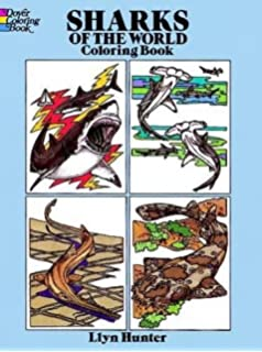 Sharks Of The World Coloring Book Dover Nature