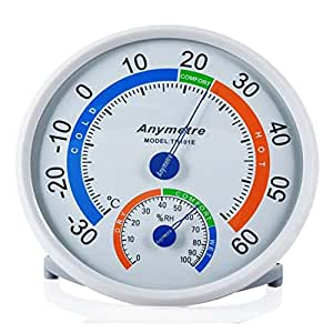 1x Termómetro Higrómetro Interior Temperatura Humedad Termómetro analógico climática prueba
