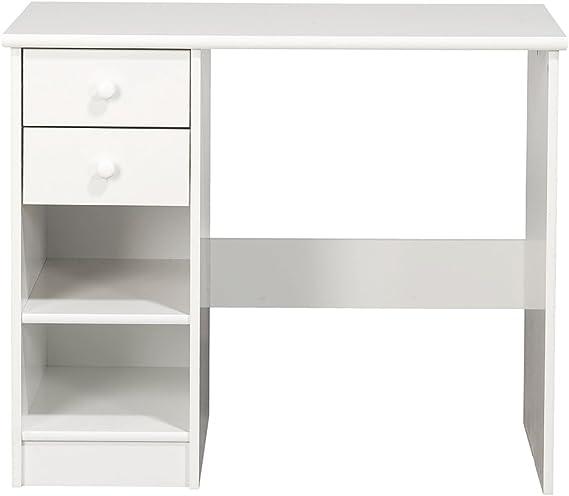 NJA Furniture Kids World - Escritorio con cajonera (2 cajones, 73 x 88 x 50 cm), Color Blanco: Amazon.es: Hogar