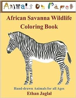 Amazon.com: African Savanna Wildlife Coloring Book: Hand-drawn ...