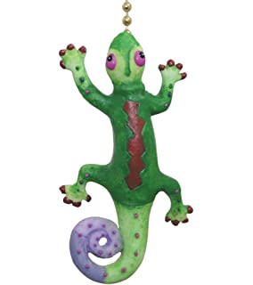 Green tree frog fan pull ceiling fan pull chain ornaments tropical gecko lizard tiki bar ceiling fan light pull aloadofball Gallery