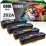 Cool Toner Compatible Toner Cartridge Replacement for HP M281fdw CF500A CF500X HP 202A 202X for HP Laserjet Pro MFP M281fdw M254dw M281cdw M281dw M280nw M254 M281 CF501A CF502A CF503A Ink Printer-4PK